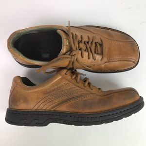 Merrell world compass caramel leather shoes